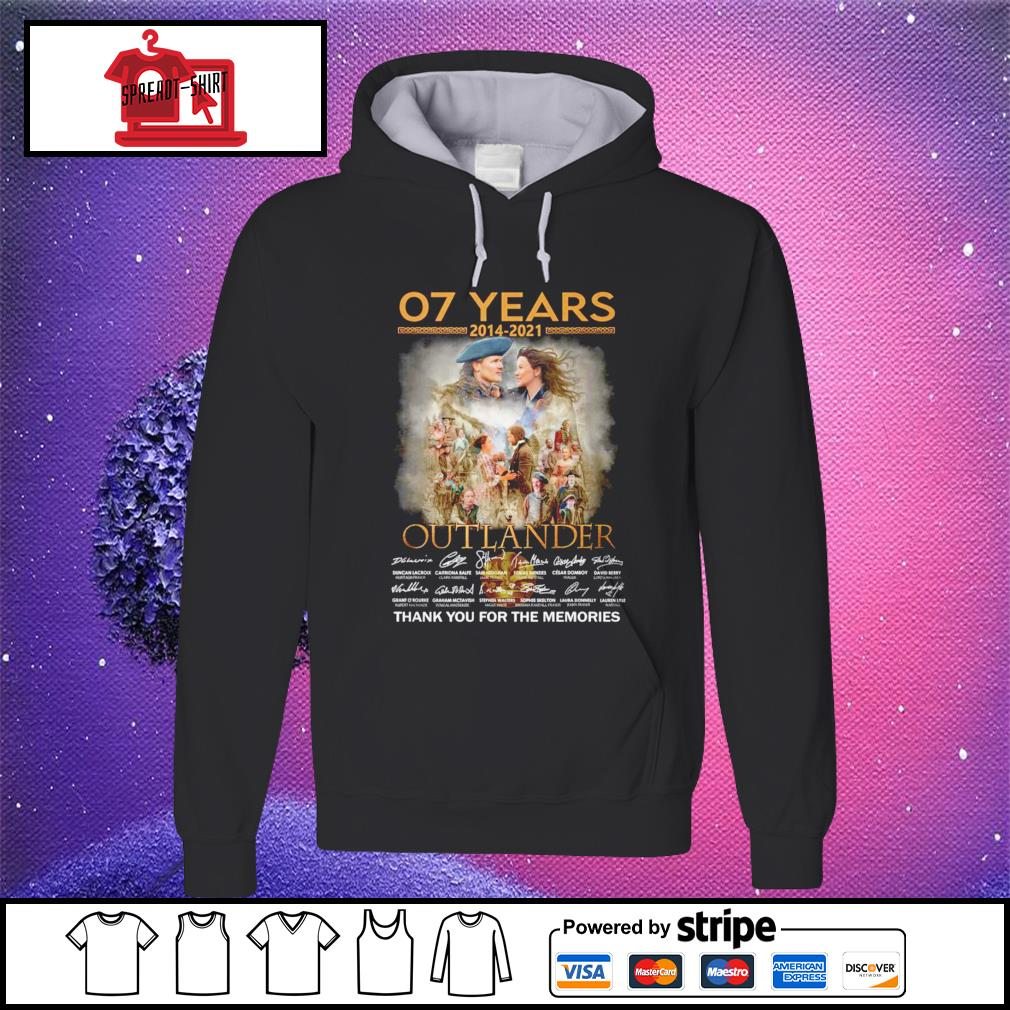 07 years 2012 2021 Outlander thank you for the memories signature hoodie