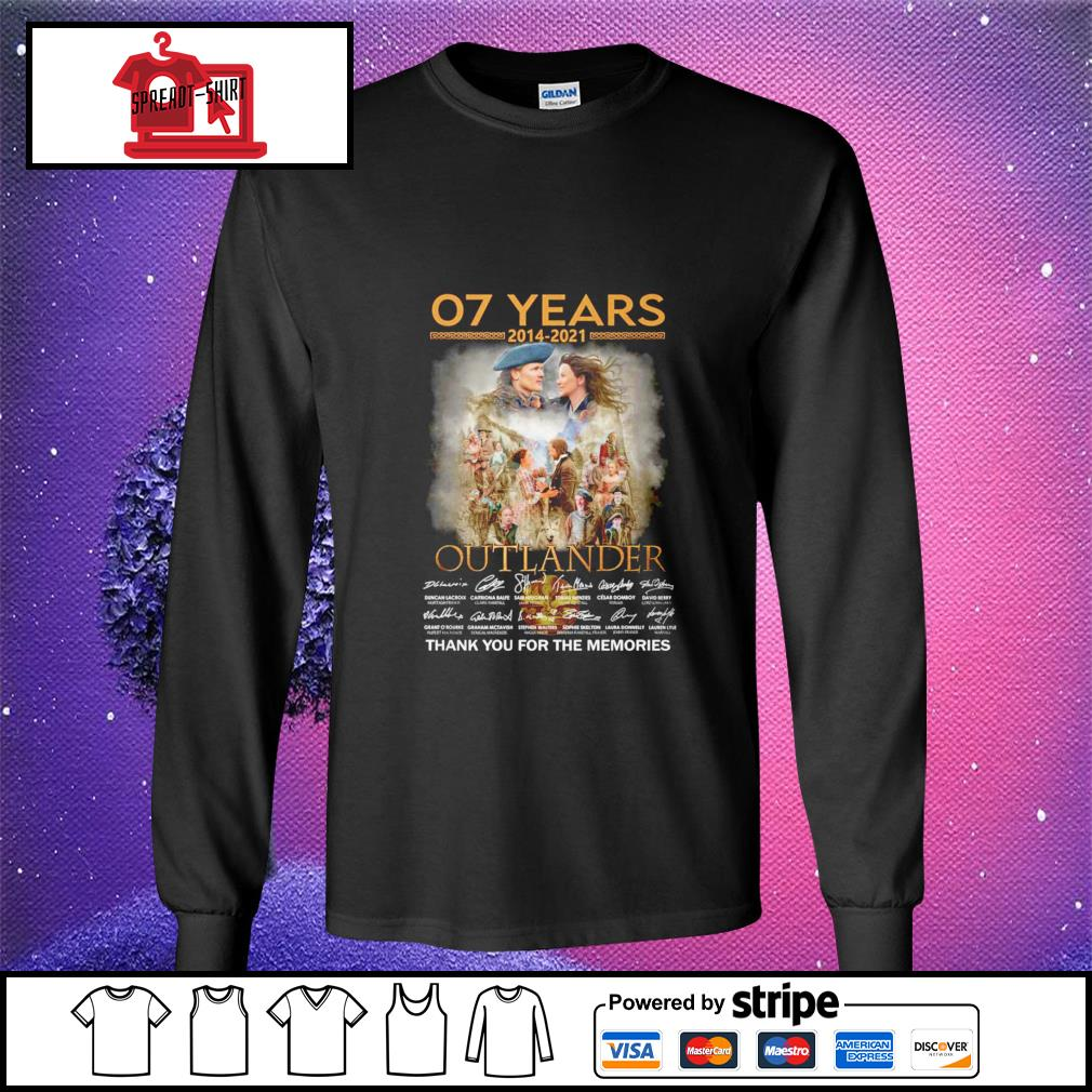 07 years 2012 2021 Outlander thank you for the memories signature longsleeve-tee