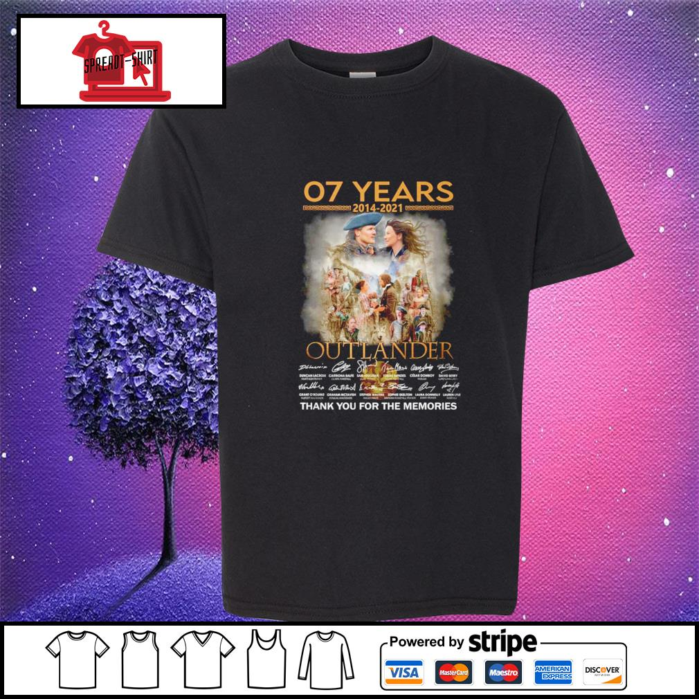 07 years 2012 2021 Outlander thank you for the memories signature youth-tee