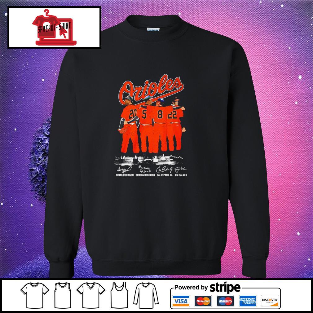 Baltimore Orioles Prank Robinson Brooks Robinson Cal Ripken and Jim Palmer signature sweater
