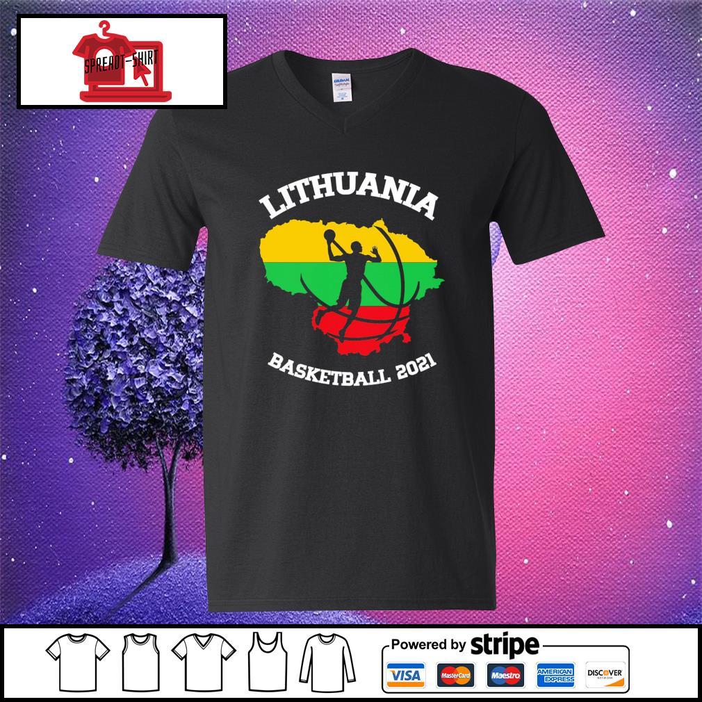 Basketball Lithuania basketball 2021 v-neck-t-shirt