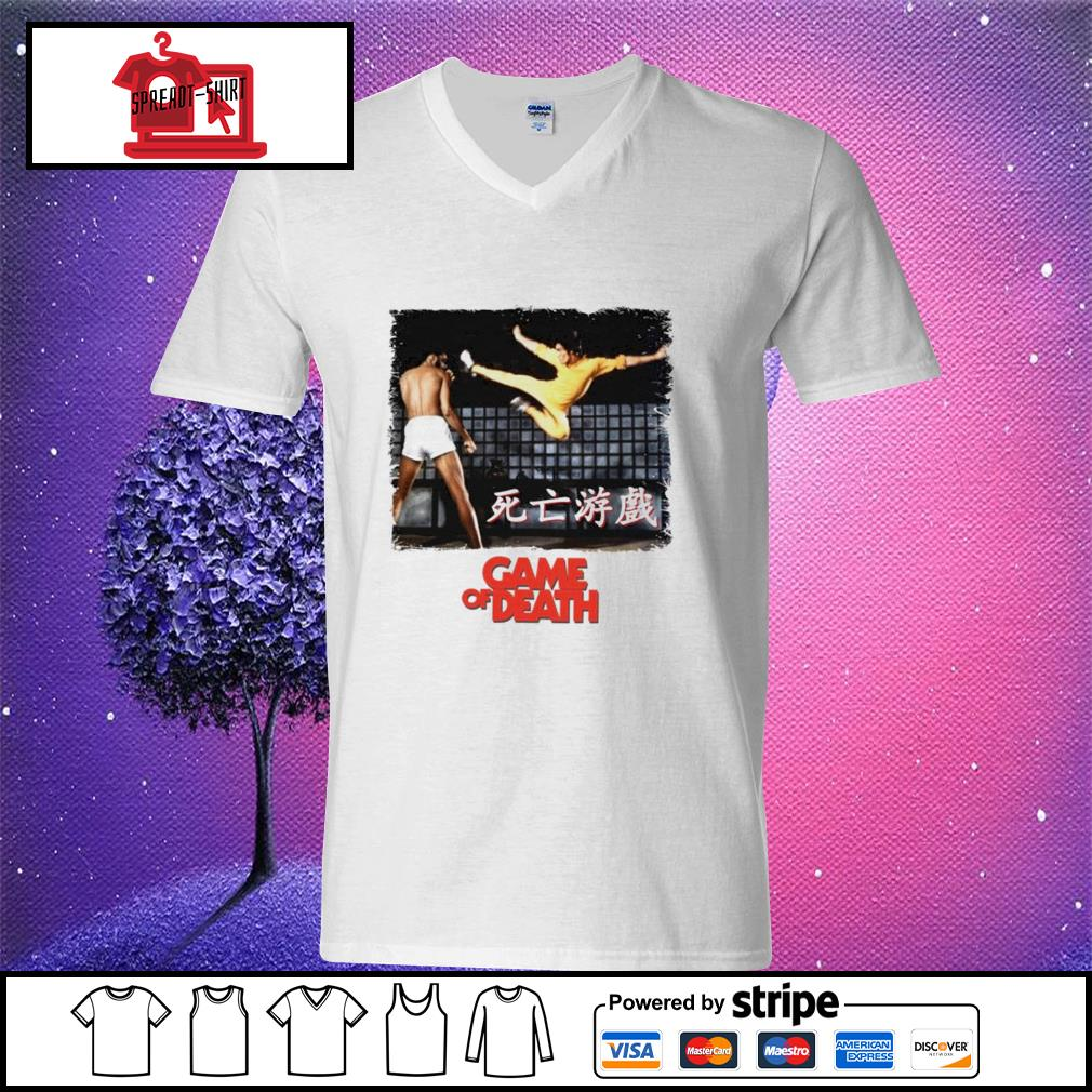 Bruce Lee Game of Death Dragon Jeet Kune do martial arts Kung-Fu v-neck t-shirt