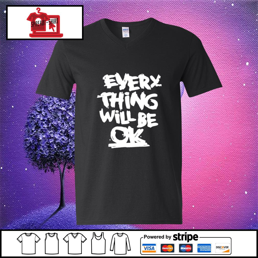 Everything will be ok s v-neck-t-shirt