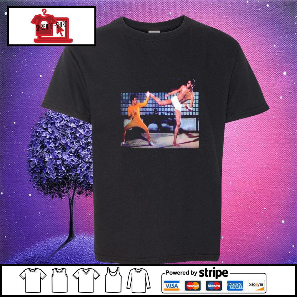 Kareem Abdul Jabbar and Bruce Lee Game of Death youth-tee