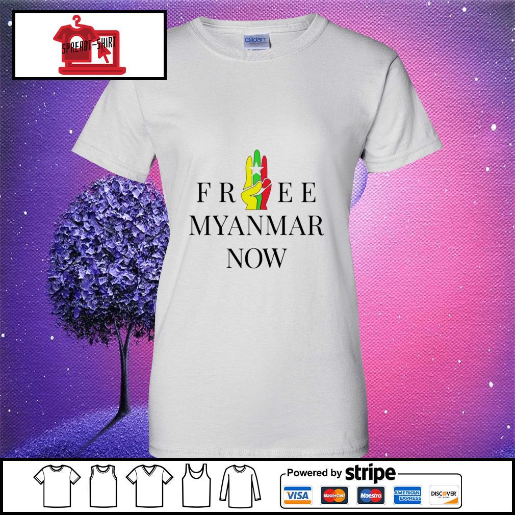 Myanmar Flag free Myanmar now s ladies tee