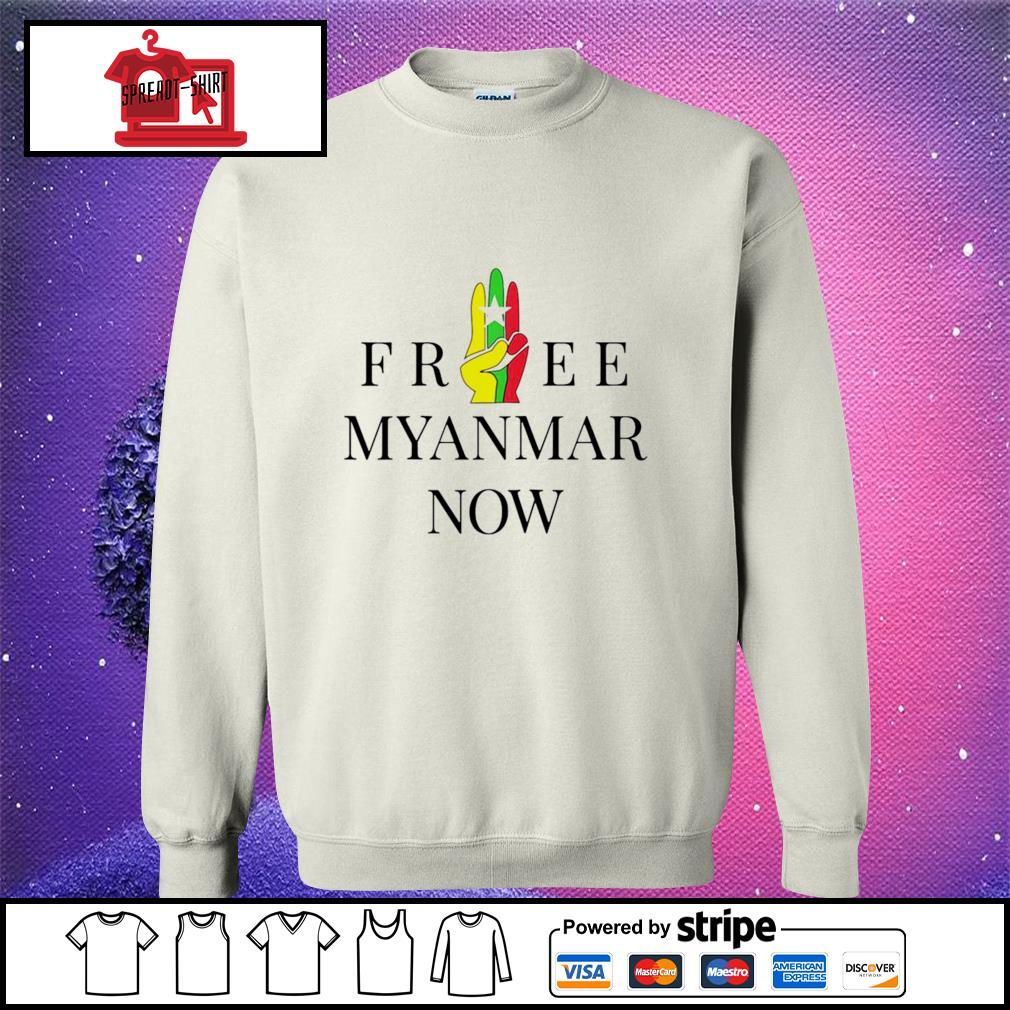 Myanmar Flag free Myanmar now s sweater