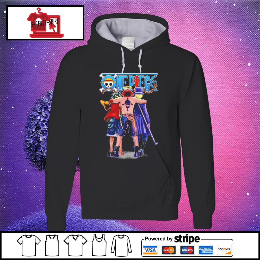 One Piece Luffy Ace and Sabo hoodie