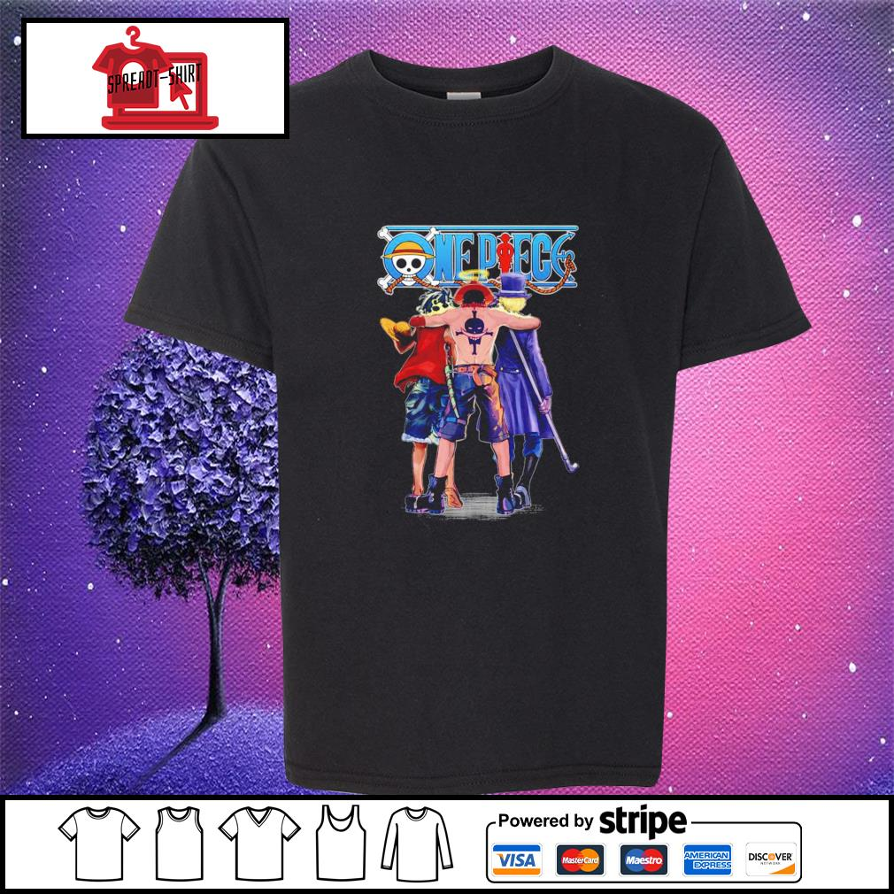 One Piece Luffy Ace and Sabo youth-tee