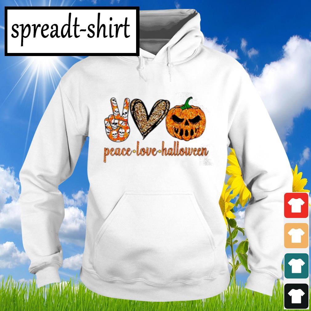 Peace Love Halloween diamond s Hoodie