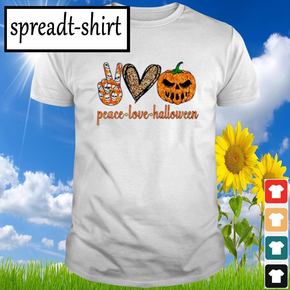 Peace Love Halloween diamond shirt