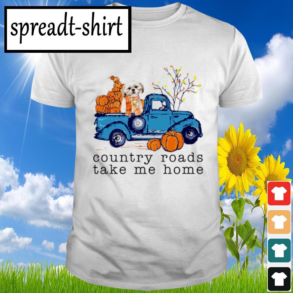 Pomeranian Country roads take me home shirt