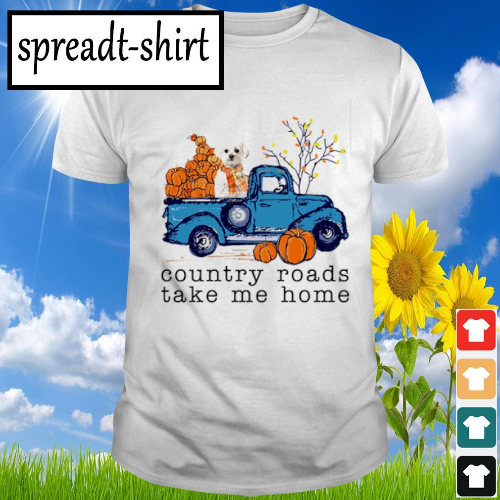 Poodle Country roads take me home shirt