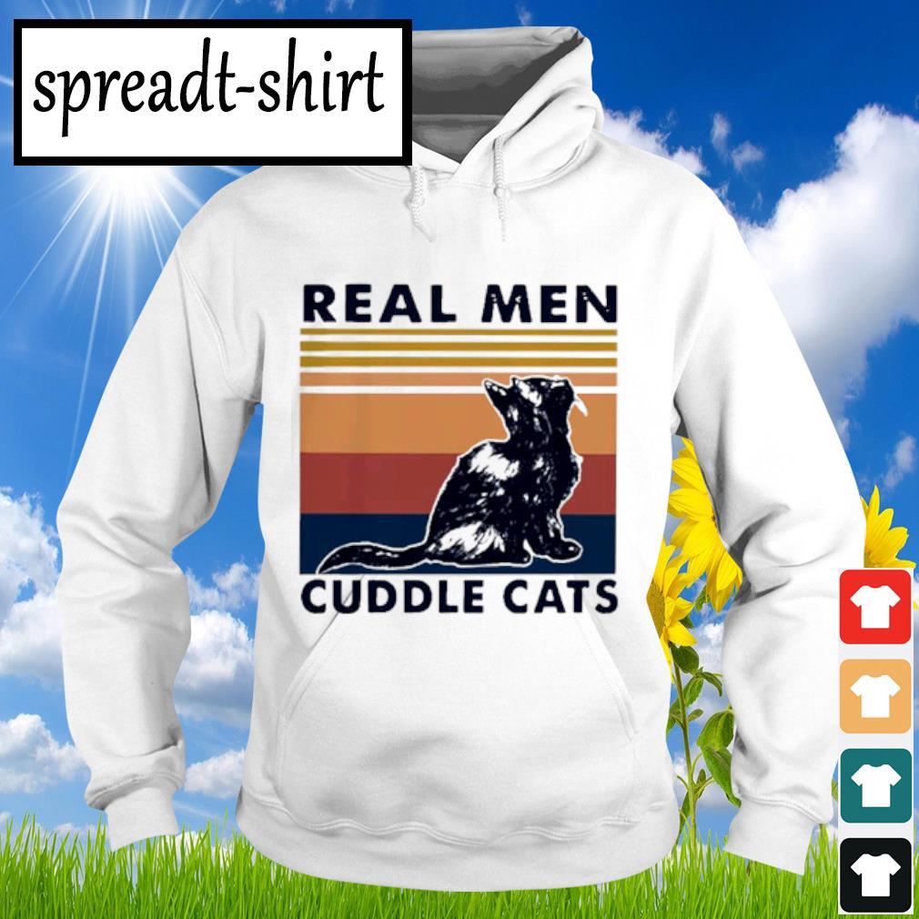 Real Men Cuddle Cats Vintage Shirt Hoodie