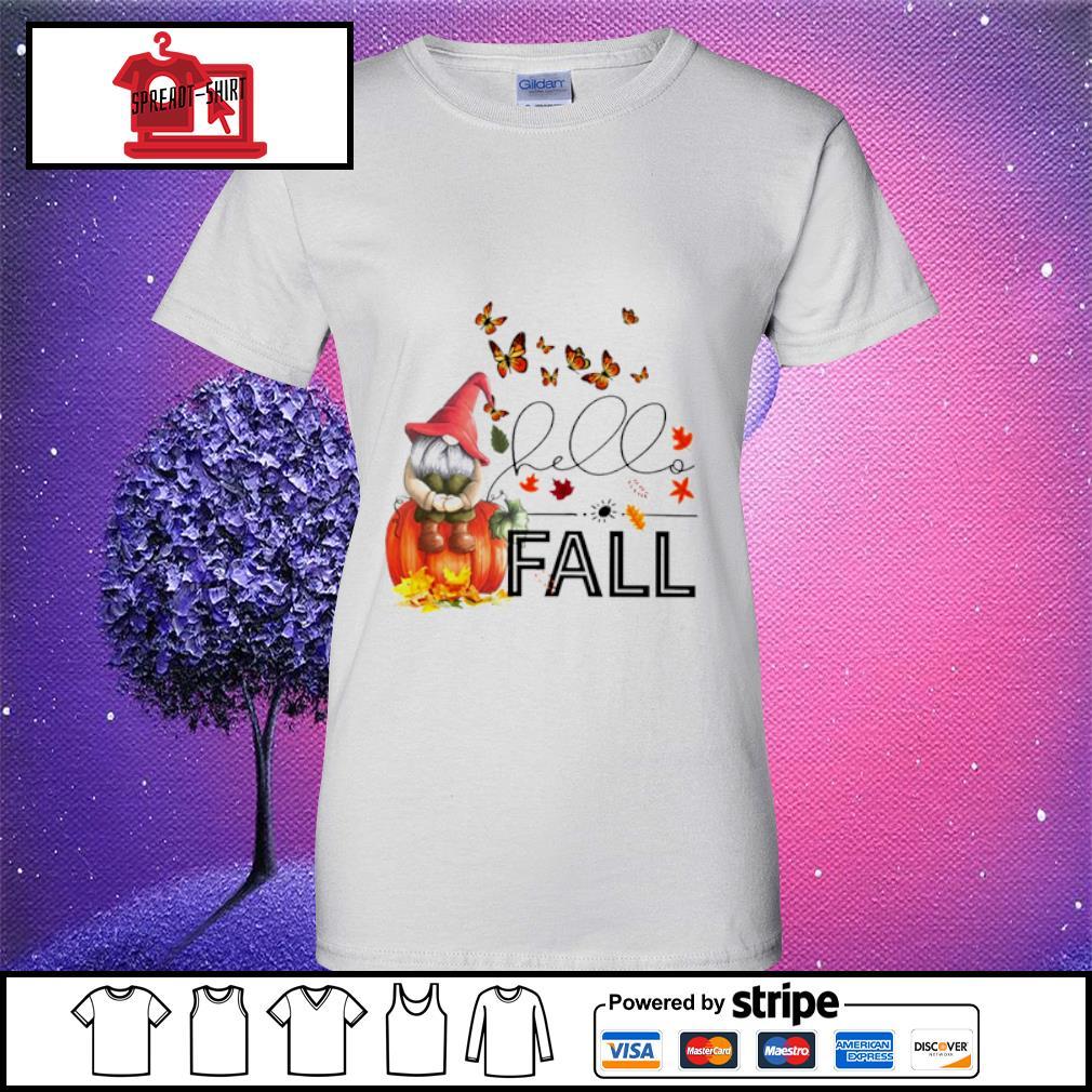 Hello Fall Gnome s ladies tee