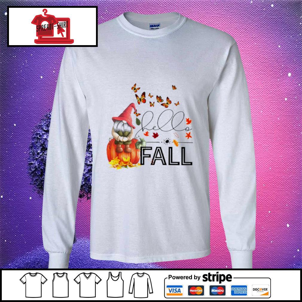 Hello Fall Gnome s longsleeve-tee