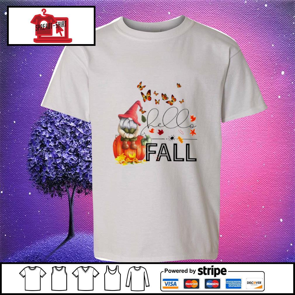 Hello Fall Gnome s youth-tee