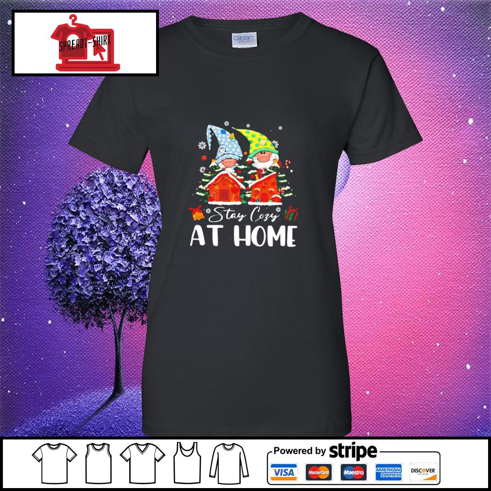 Merry Christmas Gnomies Stay Cosy At Home s ladies-tee