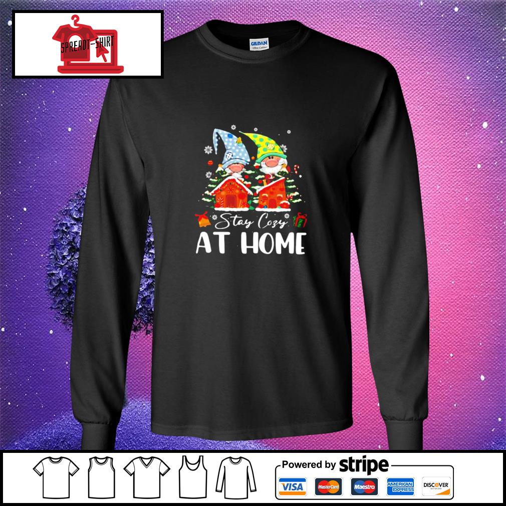 Merry Christmas Gnomies Stay Cosy At Home s longsleeve-tee