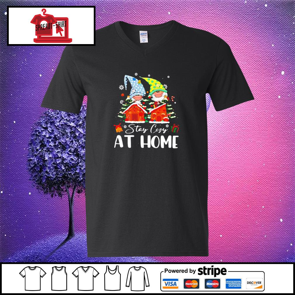 Merry Christmas Gnomies Stay Cosy At Home s v-neck-t-shirt