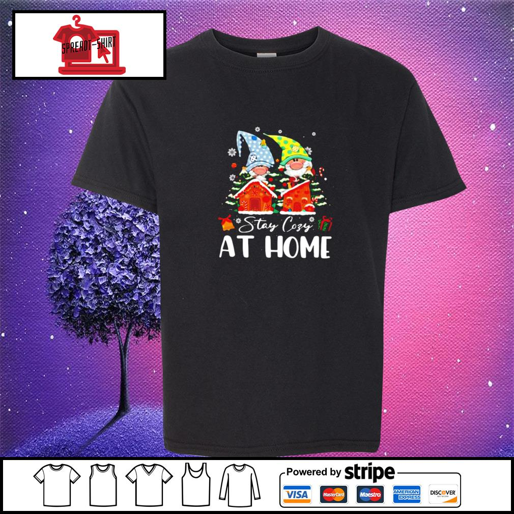 Merry Christmas Gnomies Stay Cosy At Home s youth-tee