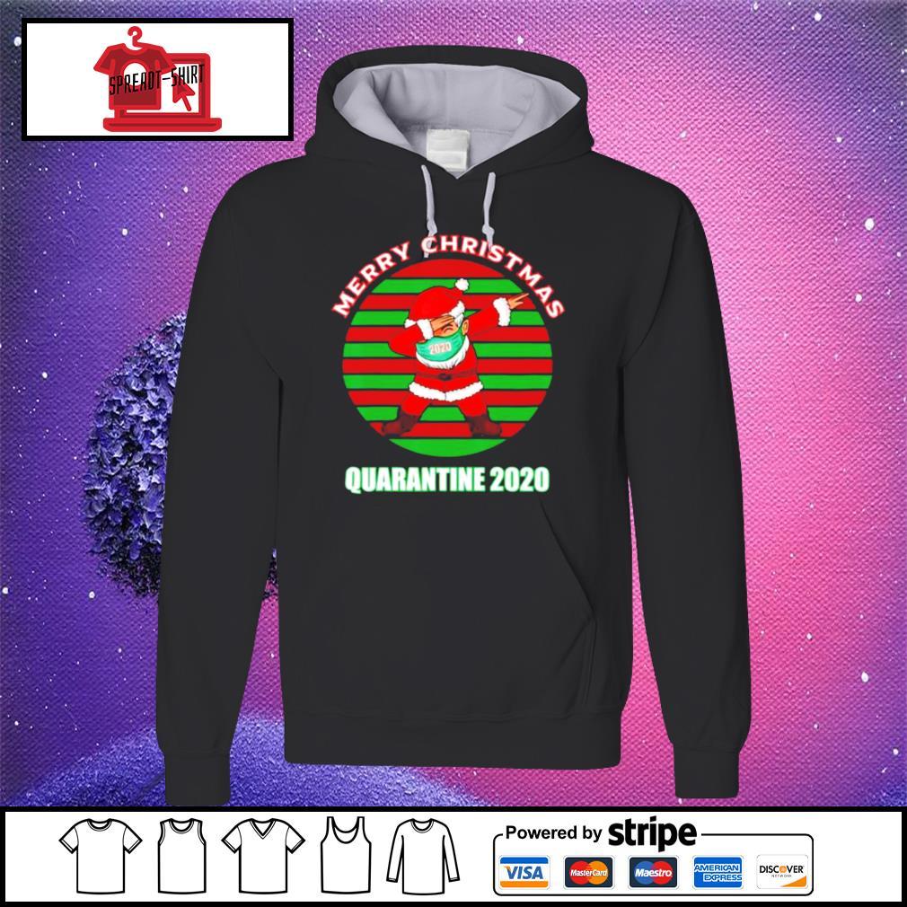 Merry christmas quarantine 2020 dabbing santa ugly vintage s hoodie