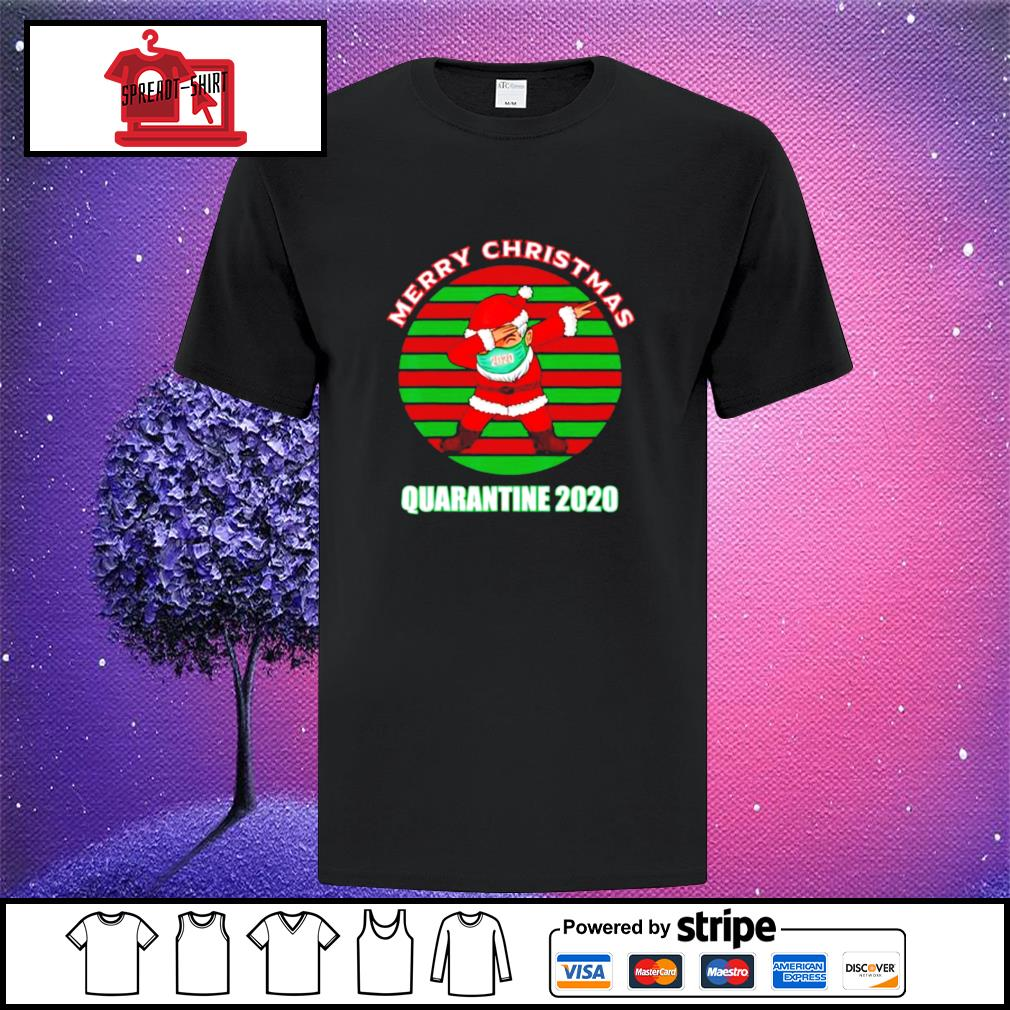 Merry christmas quarantine 2020 dabbing santa ugly vintage shirt