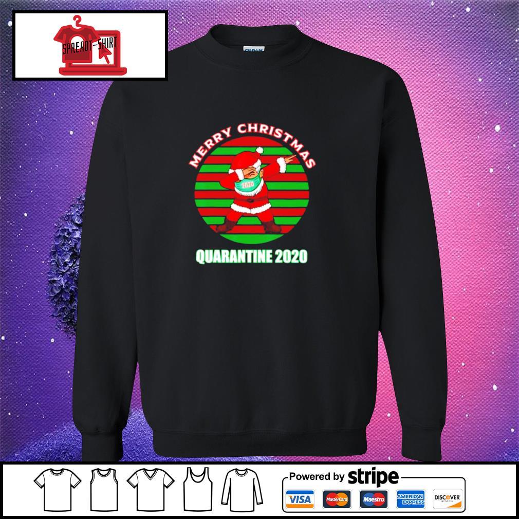 Merry christmas quarantine 2020 dabbing santa ugly vintage s sweater
