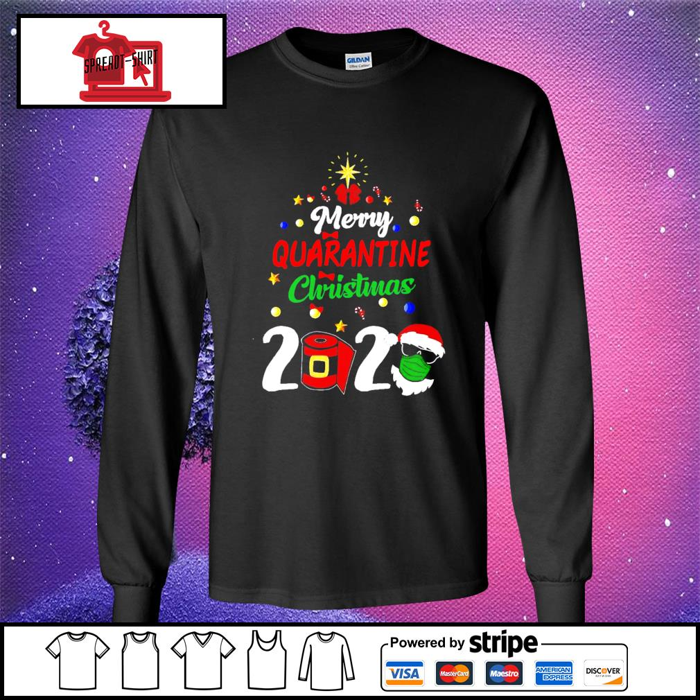 Merry Quarantine Christmas 2020 Shirt longsleeve-tee