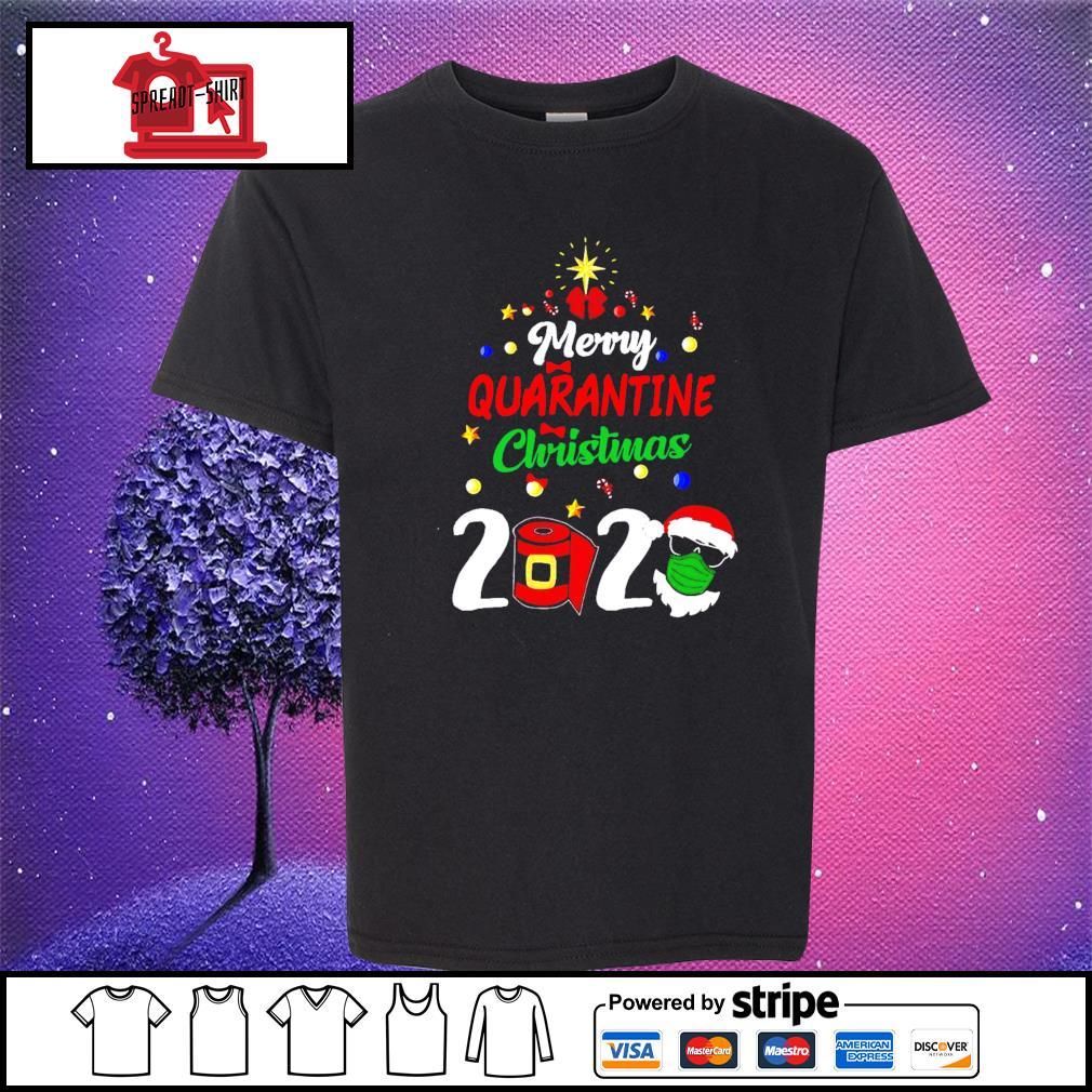Merry Quarantine Christmas 2020 Shirt youth-tee