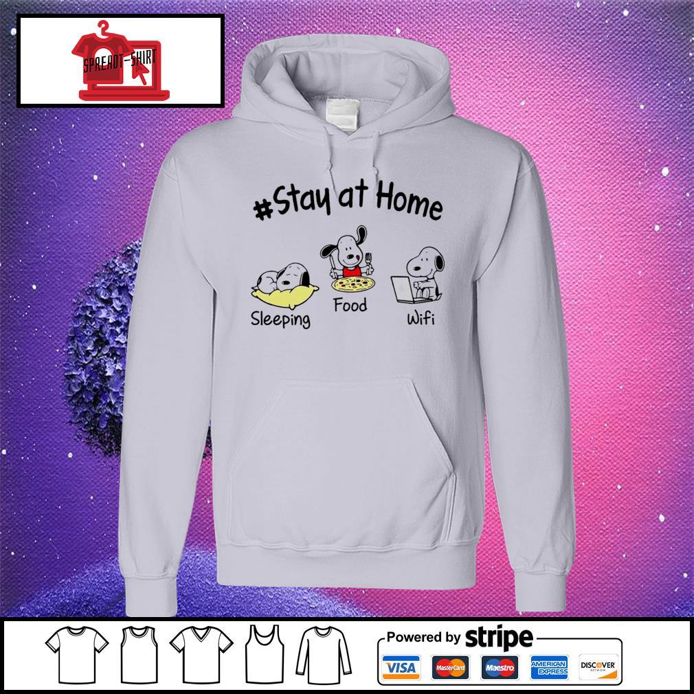 Snoopy Stay at home sleeping food wifi s hoodie