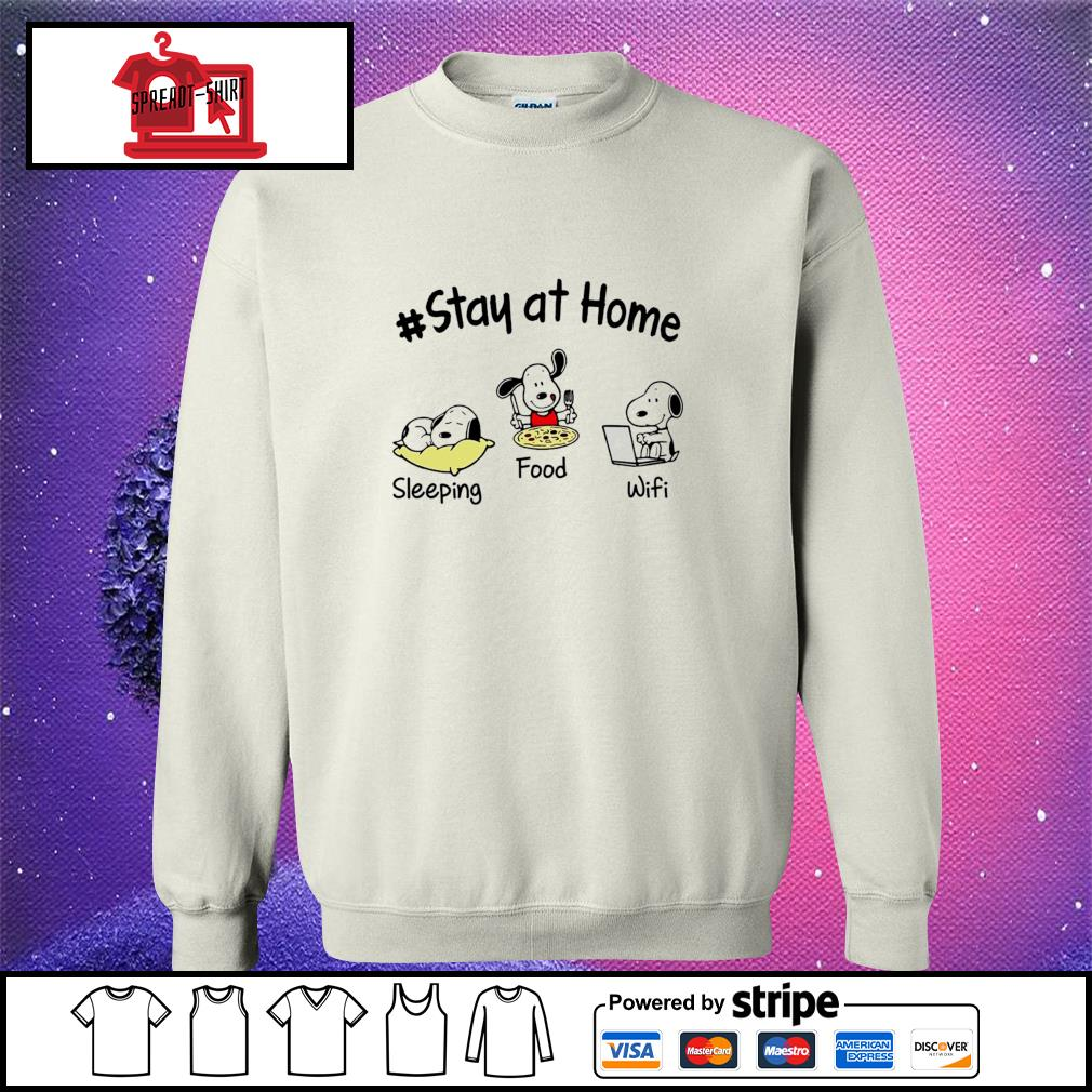 Snoopy Stay at home sleeping food wifi s sweater
