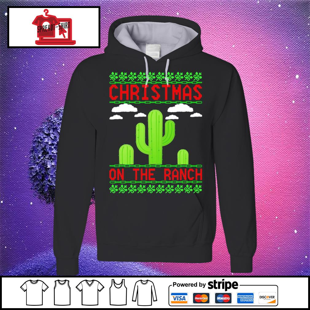 Cactus Christmas on the ranch ugly s hoodie