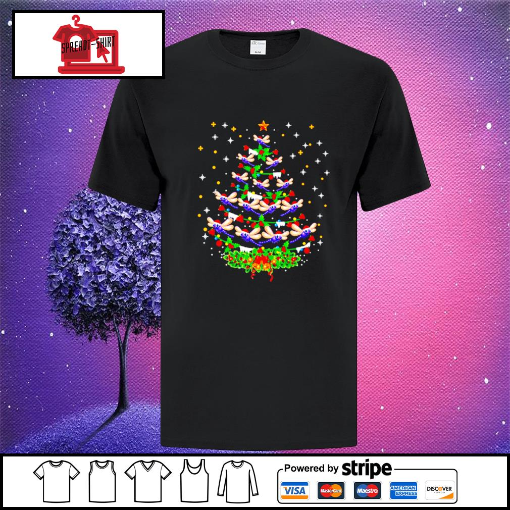 Dragonfly Christmas tree Santa Dragonfly bird Xmas shirt