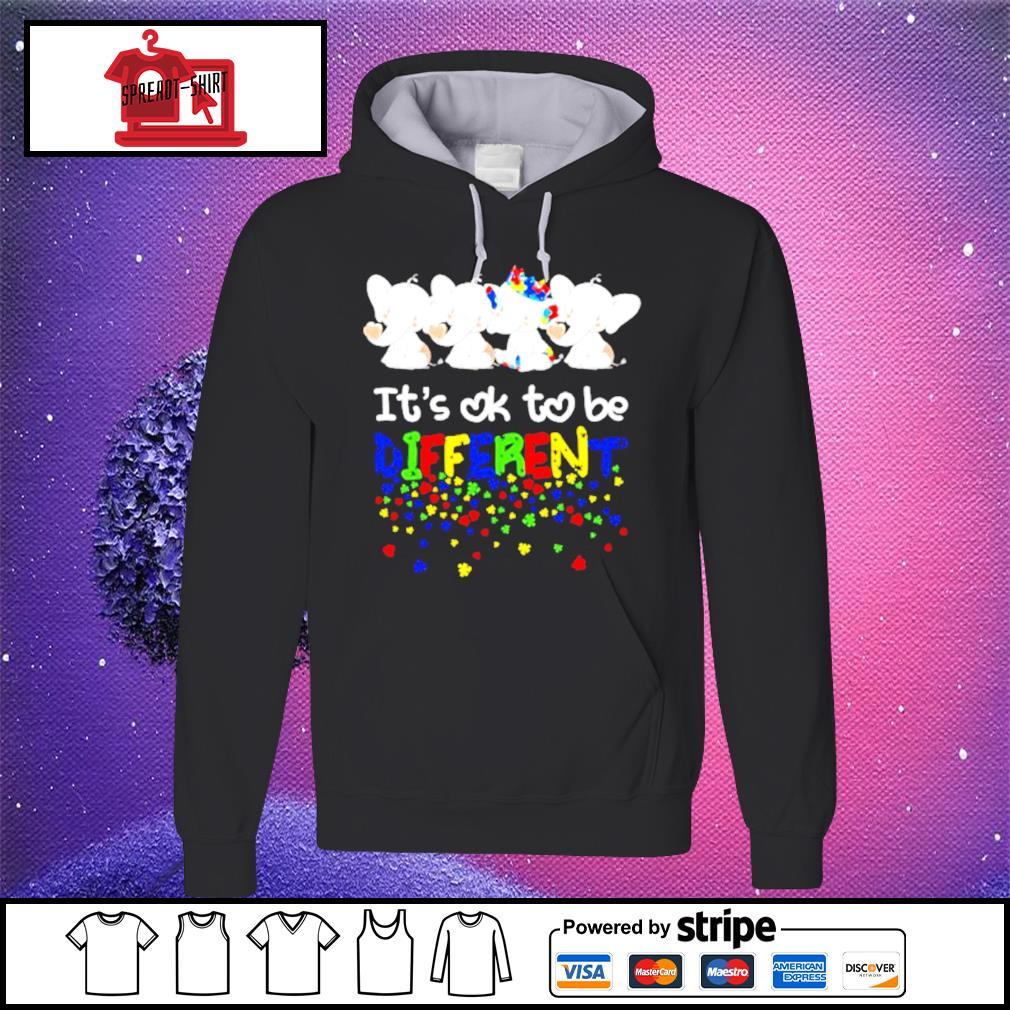 Elephants it's ok to be different LGBT s hoodie