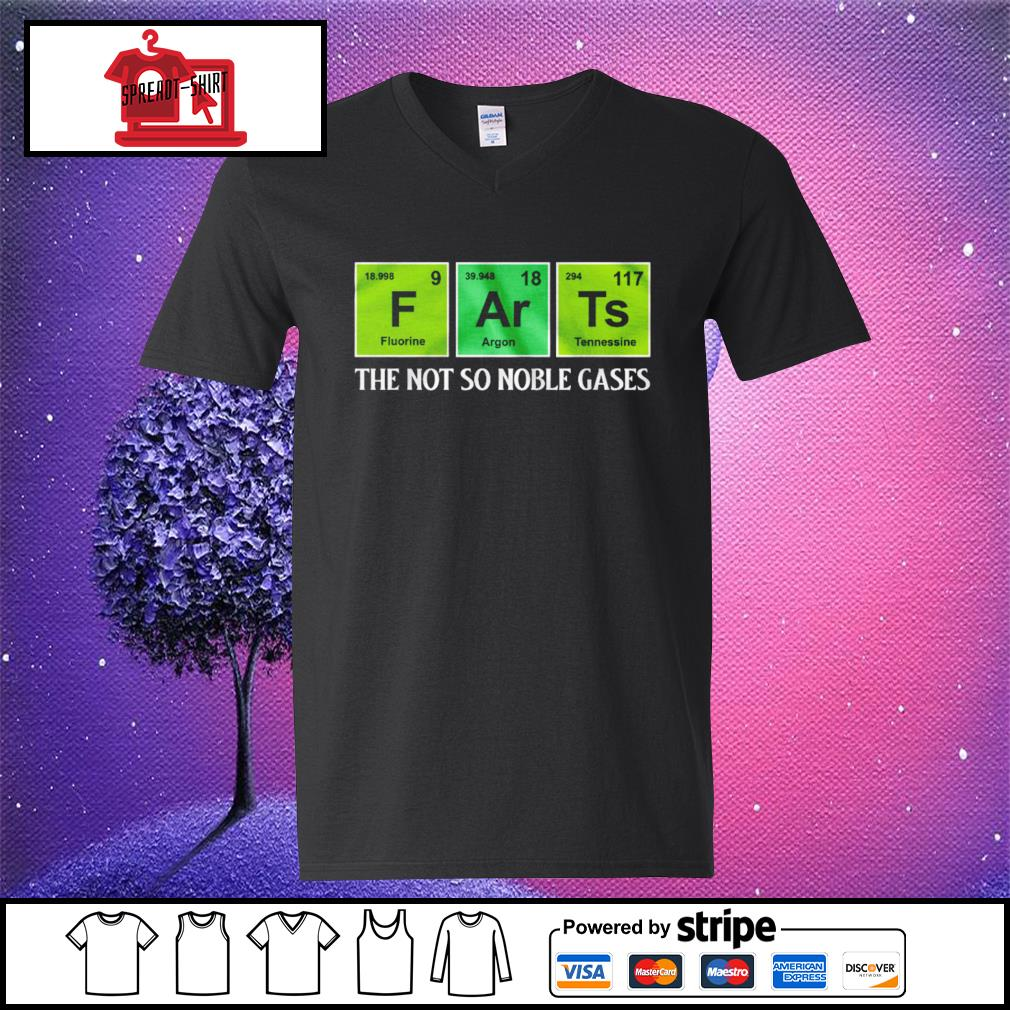 F Ar Ts the not so noble gases s v-neck-t-shirt