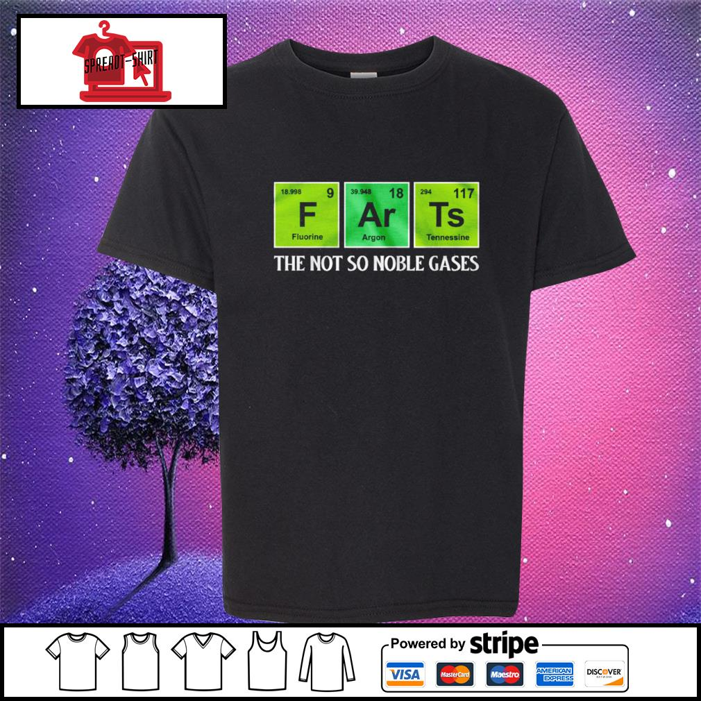 F Ar Ts the not so noble gases s youth-tee