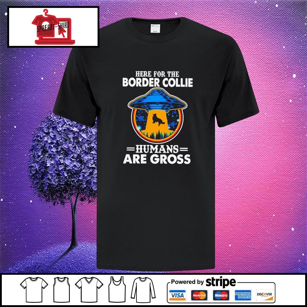 90\u2019s border collie tshirt embroidered heather grey
