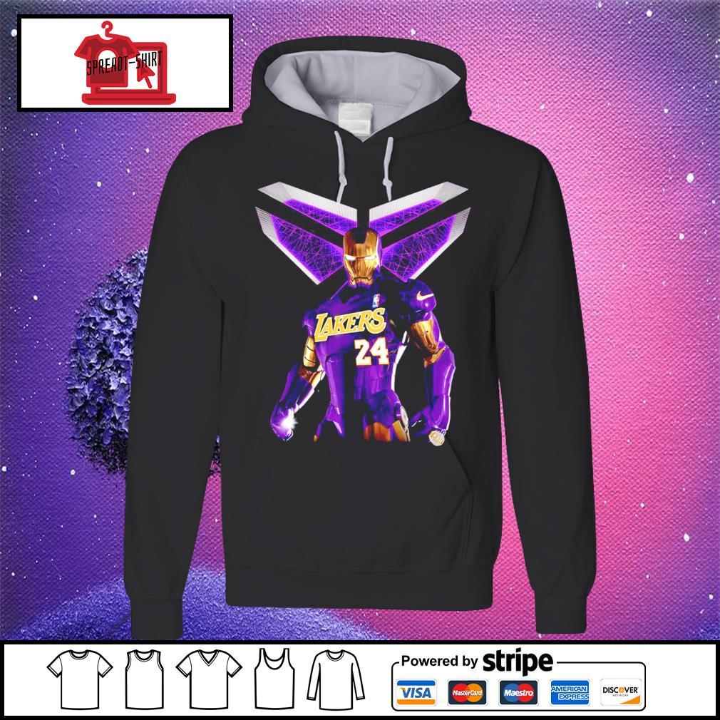 Iron Kobe Bryant Lakers 24 s hoodie