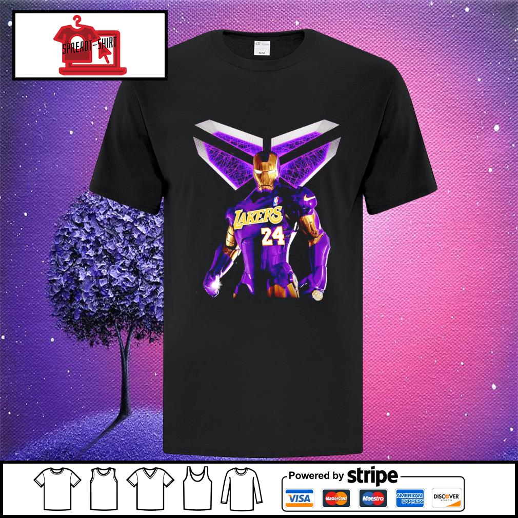 Iron Kobe Bryant Lakers 24 shirt