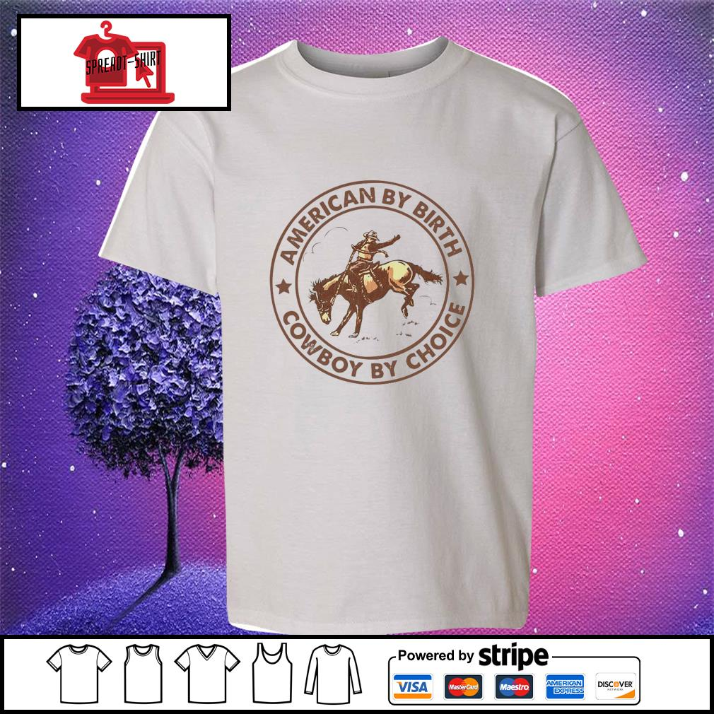 Horse american by birth cowboy by choice s youth-tee