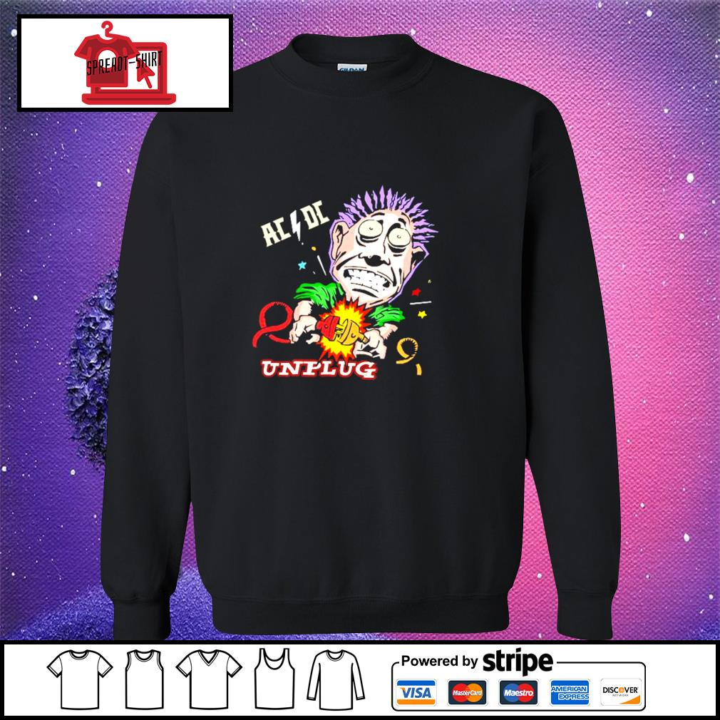Official AC DC unplug s sweater