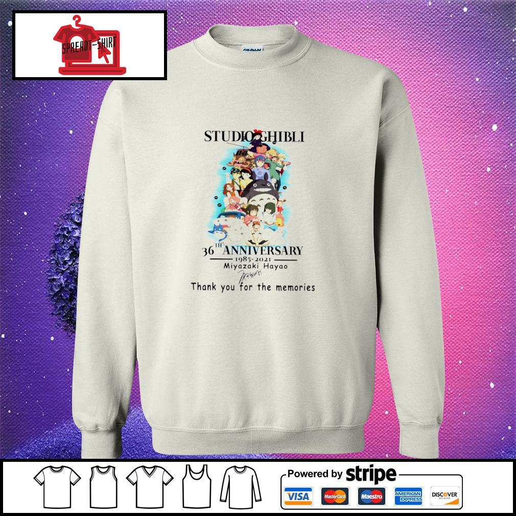 Studio Ghibli 36th anniversary 1985 2021 Miyazaki Hayao signature s sweater