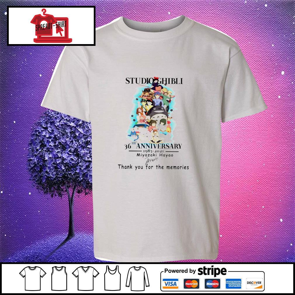 Studio Ghibli 36th anniversary 1985 2021 Miyazaki Hayao signature s youth-tee