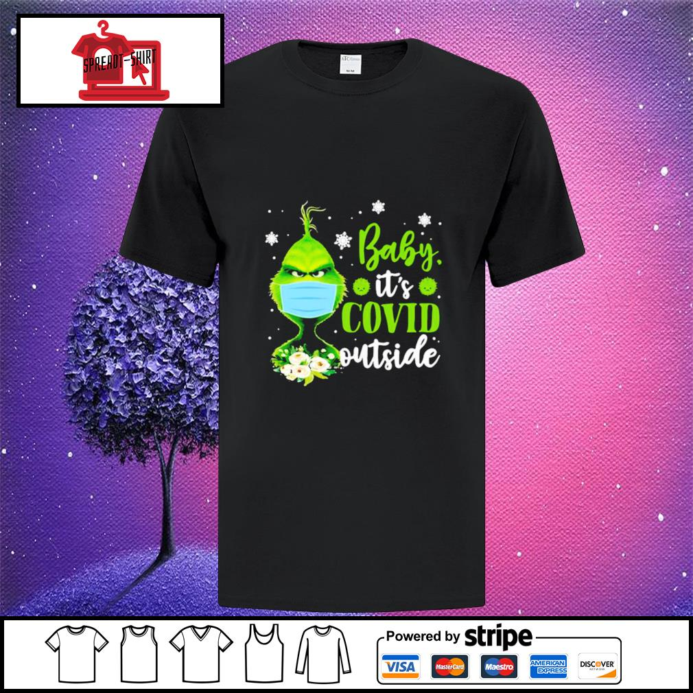 The Grinch face mask baby it's covid outside shirt